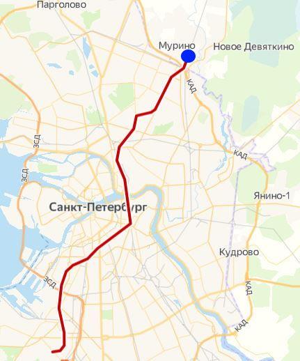 Станция метро Девяткино Санкт Петербурга