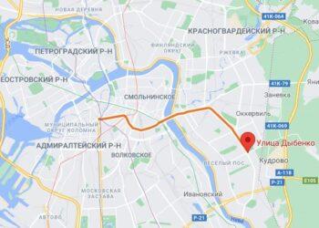 метро улица Дыбенко Санкт Петербург