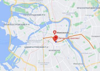 метро лиговский проспект на карте спб