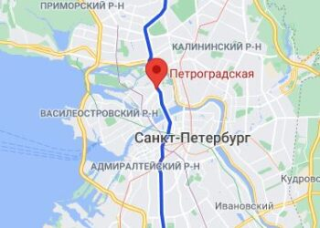 район метро Петроградская СПБ