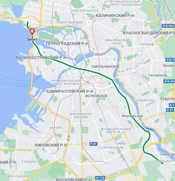 Станция метро Зенит СПБ