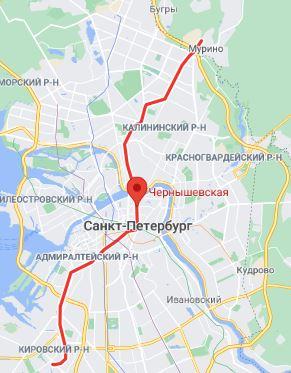 метро Чернышевская район Санкт Петербурга