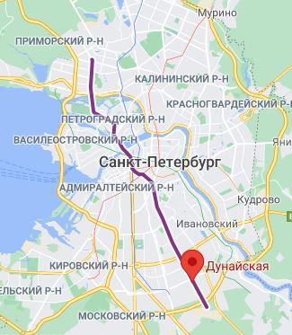 Станция метро Дунайская СПБ