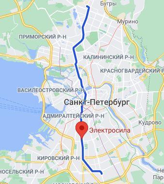 район метро Электросила СПБ