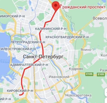 метро Гражданский проспект район СПБ