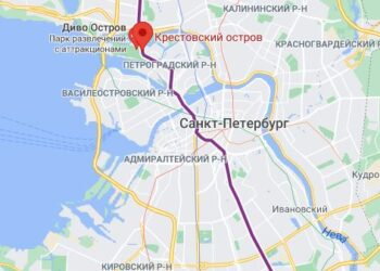 Станция метро Крестовский остров СПБ