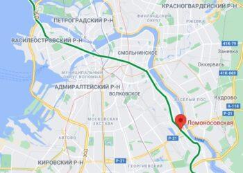 Станция метро Ломоносовская СПБ