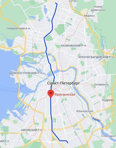 Петербург метро Фрунзенская