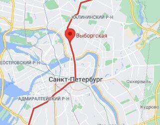 метро Выборгская СПБ