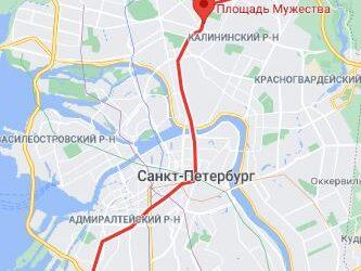 Станция метро Площадь Мужества Санкт Петербург