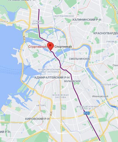 метро Спортивная СПБ