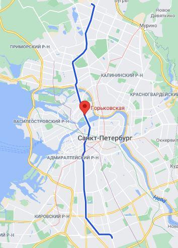район метро Горьковская СПБ