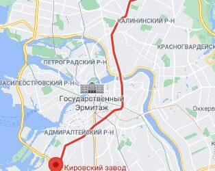 район метро Кировский завод СПБ