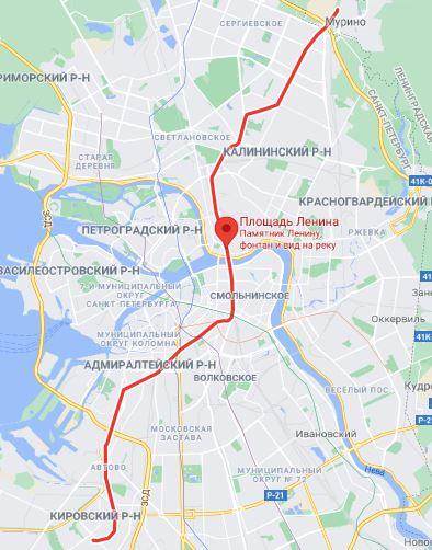 район метро площадь Ленина СПБ