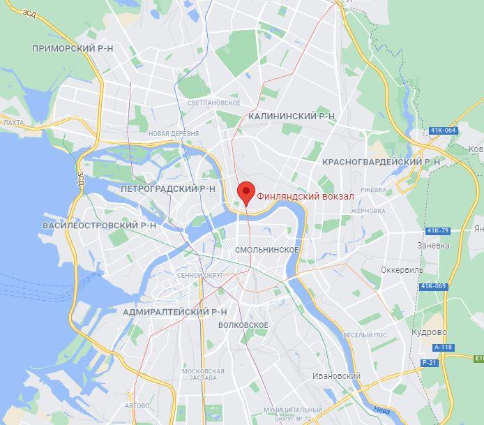 Финляндский вокзал СПб